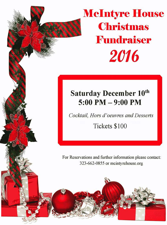 Christmas Fundraiser Flyer.Mcintyre House Christmas Fundraiser 2016 Mcintyre House